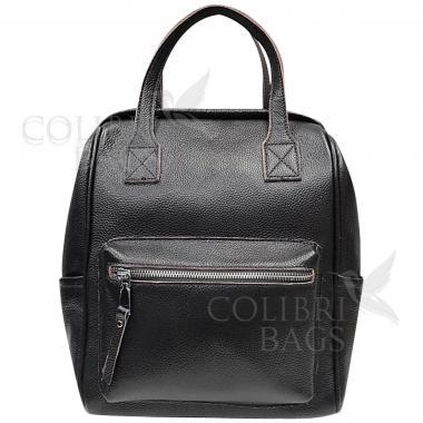 Кожаный рюкзак-трансформер MAMMIS. Шоколад.