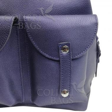 Кожаный рюкзак-трансформер MAMMIS SIGMA. Сапфир