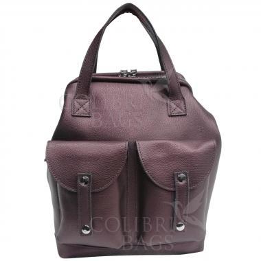 Кожаный рюкзак-трансформер MAMMIS SIGMA. Кофе жемчужный