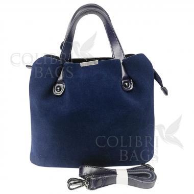Женская сумка MADRID замша. Темно-синий