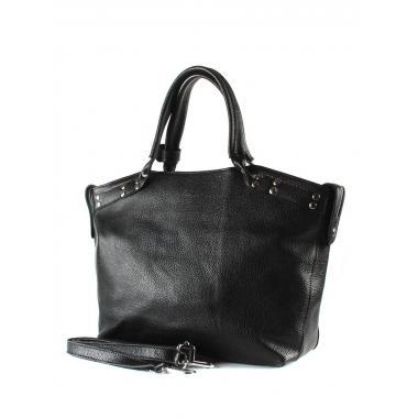 Женская кожаная сумка MARGO. Черный.