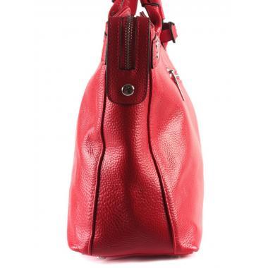 Женская кожаная сумка MARGO. Красный.