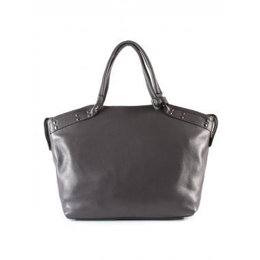 Женская кожаная сумка MARGO. Пепельный.