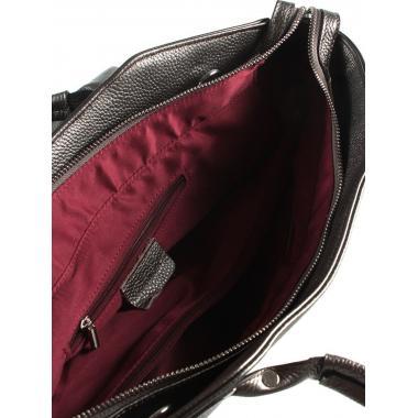 Женская кожаная сумка MARGO. Темное серебро.