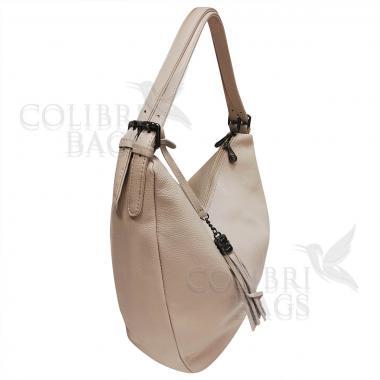 Женская кожаная сумка Mellisa. Бежевый