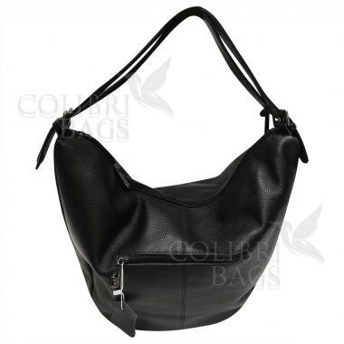 Женская кожаная сумка Mellisa. Черный