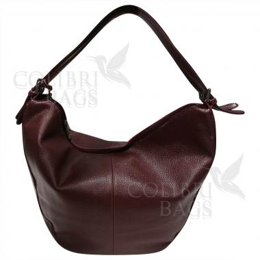 Женская кожаная сумка Mellisa. Гранат
