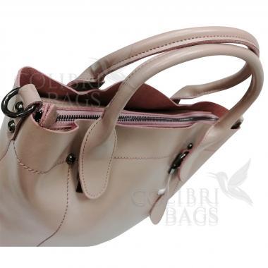 Женская кожаная сумка Milana Нова. Бежевый