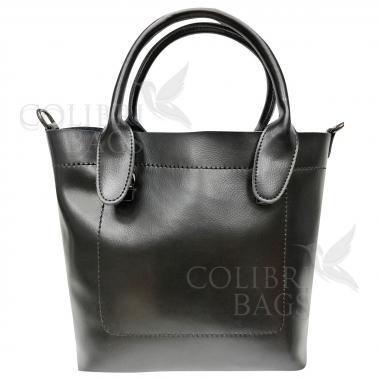 Женская кожаная сумка Milana Нова. Черный