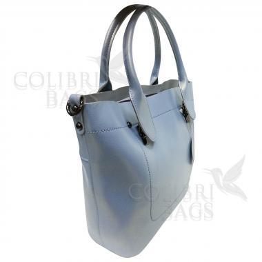 Женская кожаная сумка Milana Нова. Голубой перламутр