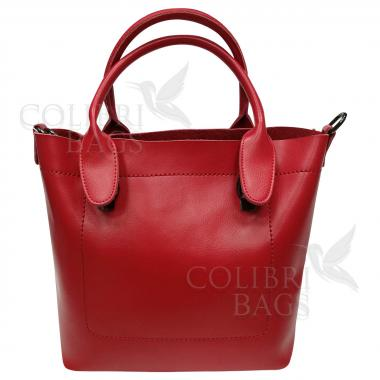 Женская кожаная сумка Milana Нова. Красный