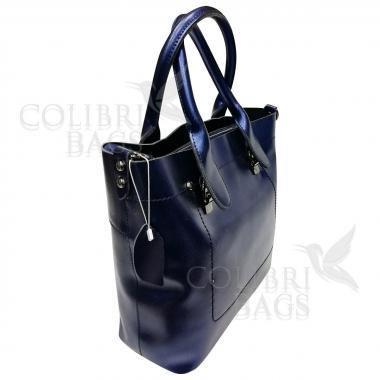 Женская кожаная сумка Milana Нова. Сапфир