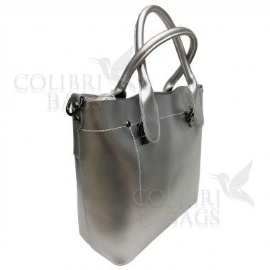 Женская кожаная сумка Milana Нова. Серебро