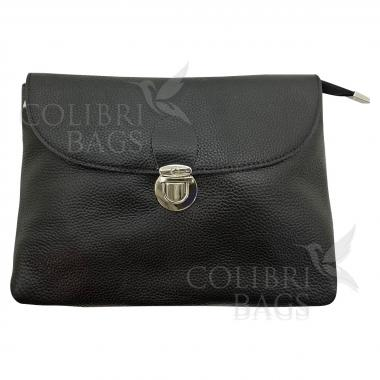 Кожаная сумка Mria. Черный.