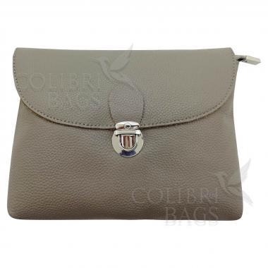Кожаная сумка Mria. Светло-серый.