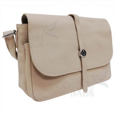 Женская кожаная сумка Nata. Бежевый