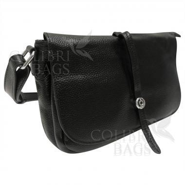 Женская кожаная сумка Nata. Черный.