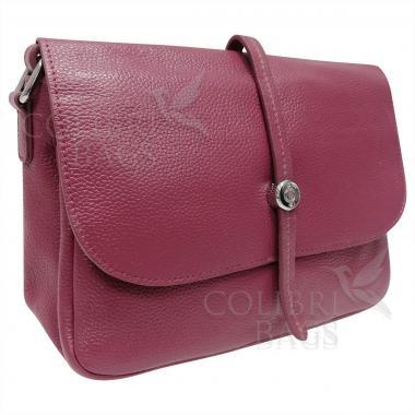 Женская кожаная сумка Nata. Ежевичный