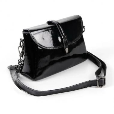 Женская кожаная сумка NATA HOLIDAY. Черный