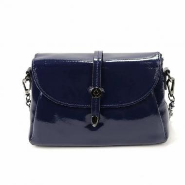 Женская кожаная сумка NATA HOLIDAY. Темно-синий