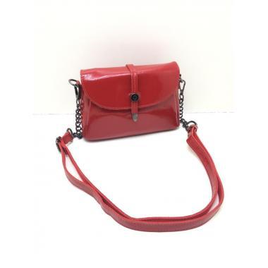 Женская кожаная сумка NATA HOLIDAY. Ярко-красный