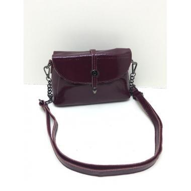 Женская кожаная сумка NATA HOLIDAY. Винный