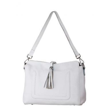 Женская кожаная сумка NIAGARA. Белый