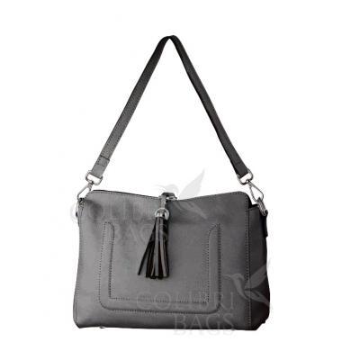 Женская кожаная сумка NIAGARA. Пепельный