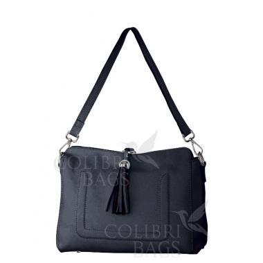 Женская кожаная сумка NIAGARA. Темно-синий