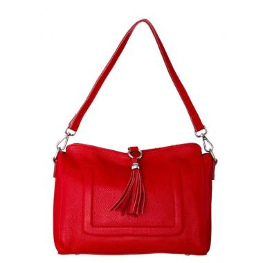 Женская кожаная сумка NIAGARA. Красный