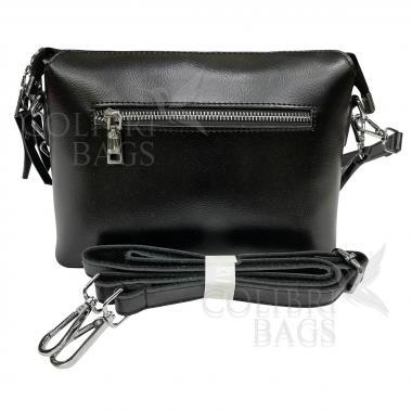 Женская кожаная сумка Ninel. Черный.