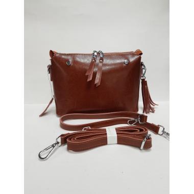 Женская кожаная сумка Ninel. Охра