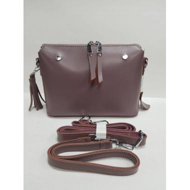 Женская кожаная сумка Ninel. Лиловый
