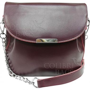 Женская кожаная сумка Norma. Ежевичный
