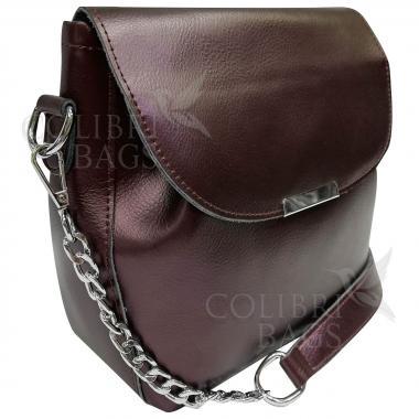 Женская кожаная сумка Norma. Кофе жемчужный