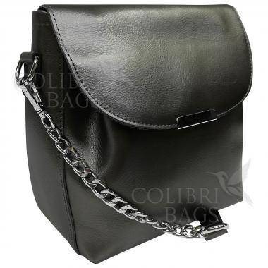 Женская кожаная сумка Norma. Стальной