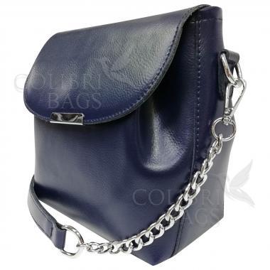 Женская кожаная сумка Norma. Темно-синий