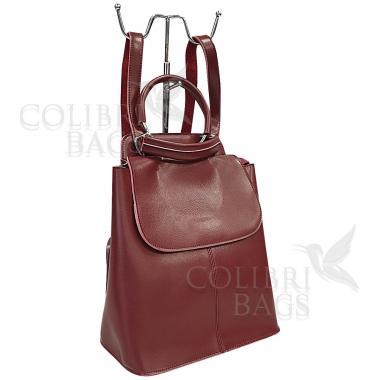 Кожаный рюкзкак-трансформер Odry. Гранат
