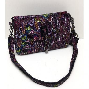 Женская кожаная сумка PAVA. Аметист