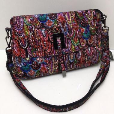 Женская кожаная сумка PAVA. Гранат