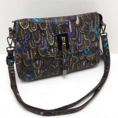 Женская кожаная сумка PAVA. Сапфир