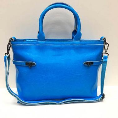 Женская кожаная сумка POSITANO. Ярко-синий.