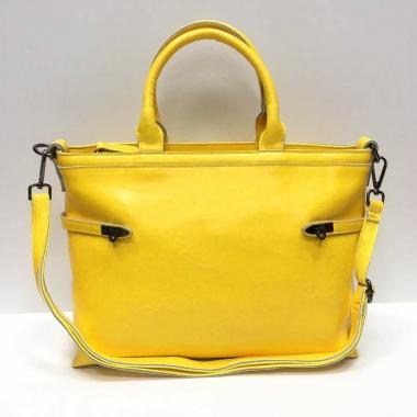 Женская кожаная сумка POSITANO. Манговый.