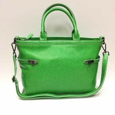 Женская кожаная сумка POSITANO. Травянной.