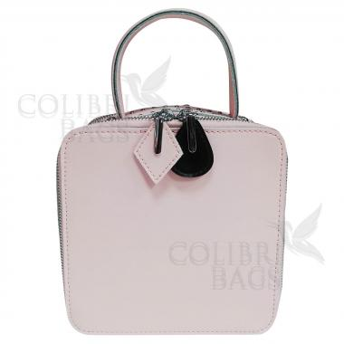 Женская кожаная сумка Quadro. Сиреневый