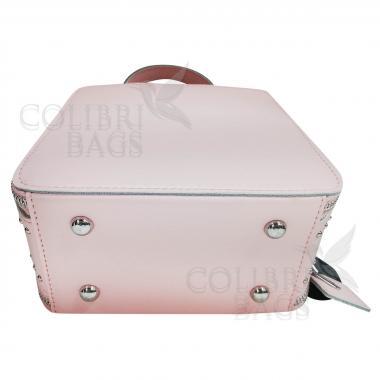 Женская кожаная сумка Quadro. Розовый