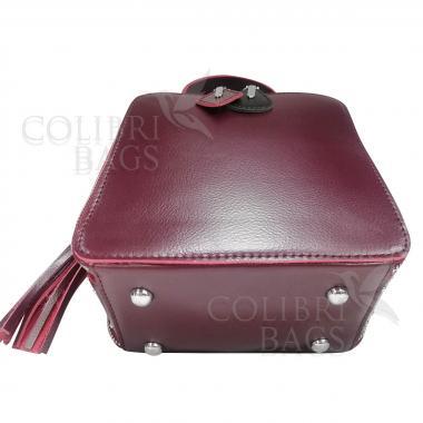 Женская кожаная сумка Quadro. Ежевичный