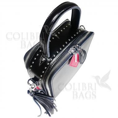 Женская кожаная сумка Quadro. Черный