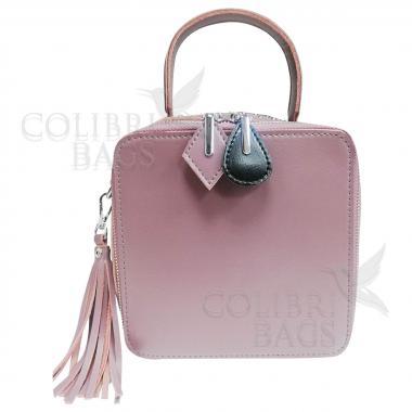 Женская кожаная сумка Quadro. Лиловый