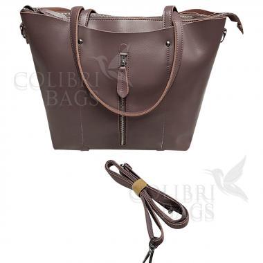 Женская кожаная сумка Richy Casual. Лиловый